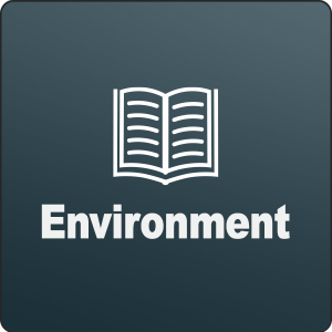 Environment podcast with book icon