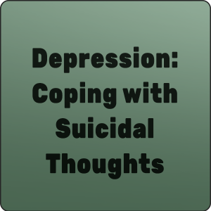depression coping with suicidal thoughts