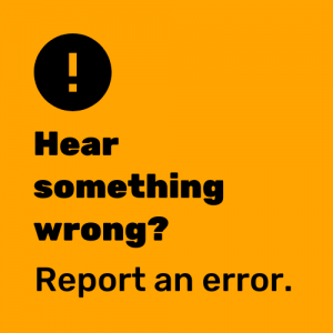 Attention! Hear something wrong? Report an error.