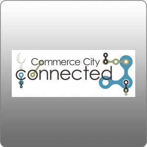 Commerce city connected logo