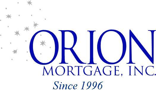 Orion Mortgage, INC. Since 1996 Logo